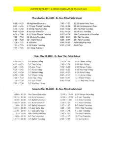 thumbnail of 2020 Recreational Picture Day Schedule
